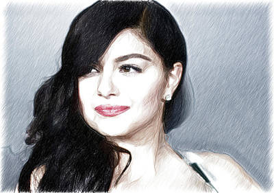 The First Family Digital Art - Ariel Winter Poster by Best Actors