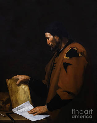 Painting - Aristotle by Jusepe de Ribera