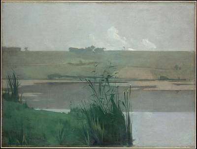 Bataille Painting - Arques-la-bataille by John Henry Twachtman