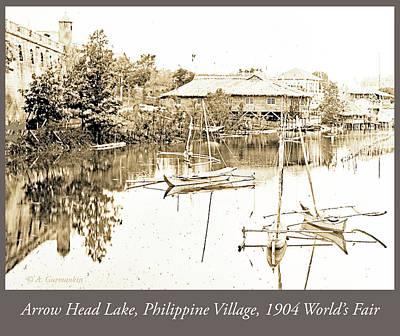 Photograph - Arrow Head Lake, Philippine Village, 1904 Worlds Fair, Vintage P by A Gurmankin