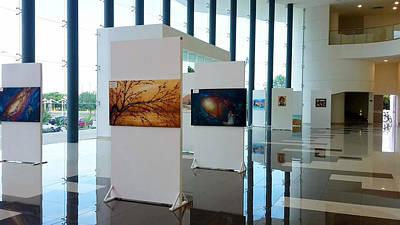 Photograph - Art Exhibition At City Theatre Playa Del Carmen by Angel Ortiz