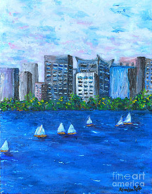Wind Surfing Art Painting - Art Study by Reina Resto