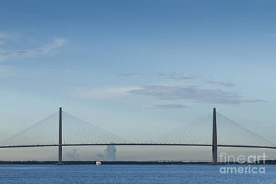 Harbor Bridge Wall Art - Photograph - Arthur Ravenel Jr Bridge Charleston Sc Cooper River by Dustin K Ryan