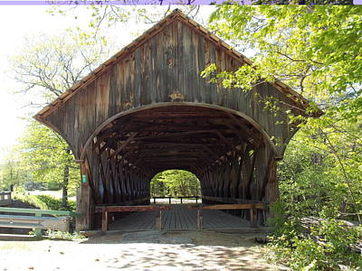 Photograph - Artist Covered Bridge by Catherine Gagne