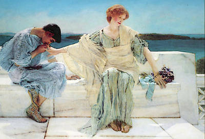 I Ask Digital Art - Ask Me No More by Lawrence Alma Tadema