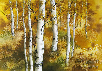 Painting - Aspen Grove by Frank Townsley