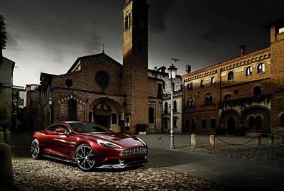 University Digital Art - Aston Martin Vanquish by Super Lovely