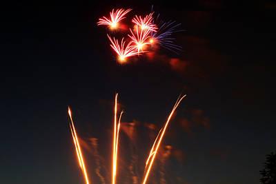 Photograph - Astoria Park Fireworks by Jim Poulos