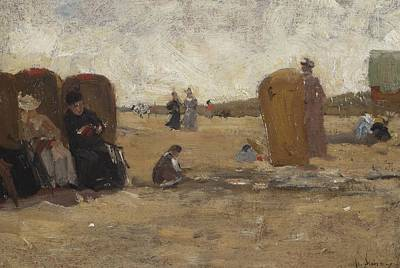 Scheveningen Painting - At The Beach Of Scheveningen by Floris Arntzenius
