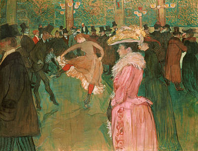 Dance Halls Painting - At The Moulin Rouge, The Dance by Henri de Toulouse-Lautrec