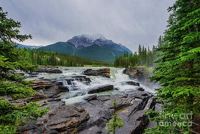 Photograph - Athabasca Falls by David Arment