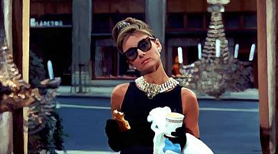 Audrey Hepburn @ Breakfast At Tiffanys Art Print