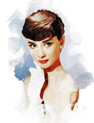 Musician Royalty-Free and Rights-Managed Images - Audrey Hepburn, Actress by John Springfield