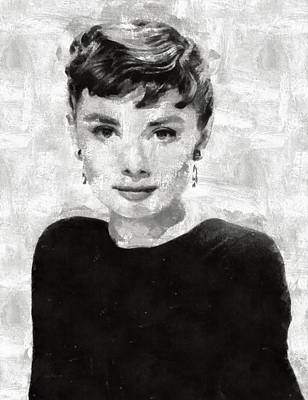 Celebrities Royalty-Free and Rights-Managed Images - Audrey Hepburn by Esoterica Art Agency
