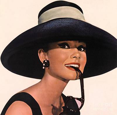 Actors Royalty-Free and Rights-Managed Images - Audrey Hepburn In Breakfast At Tiffanys by The Titanic Project