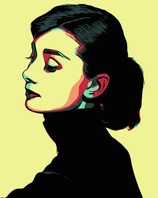 Digital Art - Audrey Hepburn by Taylan Apukovska