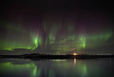 Photograph - Aurora At The Lake by Ronald Lafleur