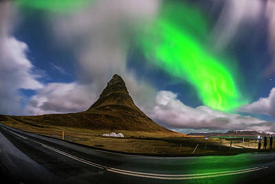Photograph - Aurora Blast Kirkjufell, Iceland by Pradeep Raja PRINTS