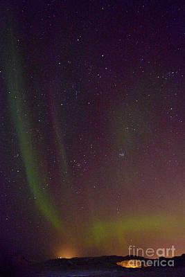 Photograph - Aurora Borealis In Iceland by Benjamin Wiedmann