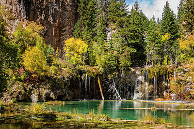 Autumn At Hanging Lake Waterfall - Glenwood Canyon Colorado Art Print