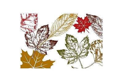 Red Leaf Digital Art - Autumn Day by Chastity Hoff