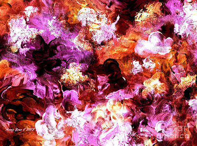 Painting - Autumn Floral Abstract Art by Annie Zeno
