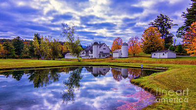 Photograph - Autumn In Arlington Vermont by New England Photography