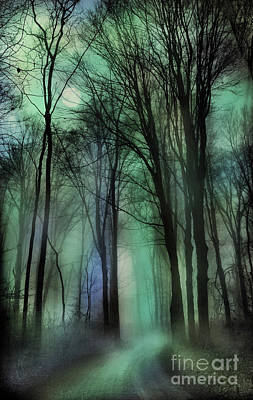 Digital Art - Autumn Moon Winter On The Way by Gina Signore