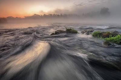 Grass Rocks Photograph - Autumn Morning by Davorin Mance