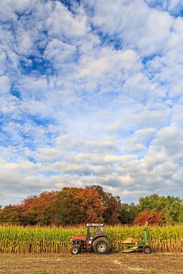 Cornfield Photograph - Autumn On The Farm by Bryan Bzdula