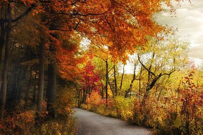 Fall Landscape Digital Art - Autumn Passage by Jessica Jenney