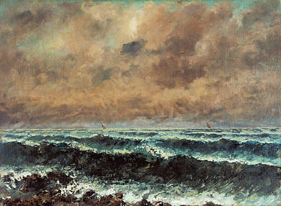 Waterfront Painting - Autumn Sea by Gustave Courbet