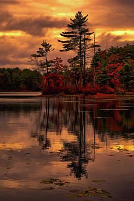 Photograph - Autumn Sunset by Lilia D