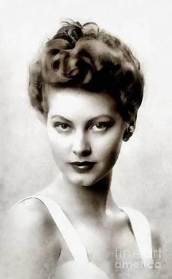 Beers On Tap - Ava Gardner, Vintage Actress by Esoterica Art Agency