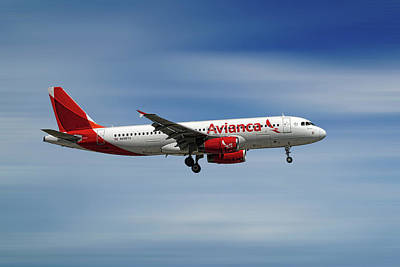 Mixed Media - Avianca Airbus A320-233 by Smart Aviation