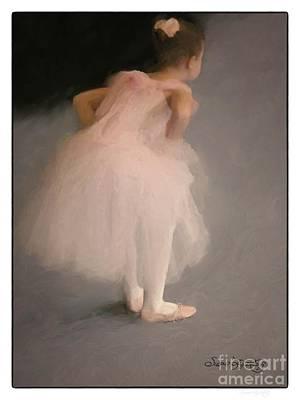 Dance Recital Digital Art - Awaiting The Moment by Susan  Lipschutz