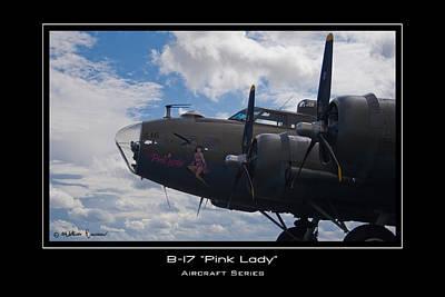 B-17 Pink Lady Art Print by Mathias Rousseau