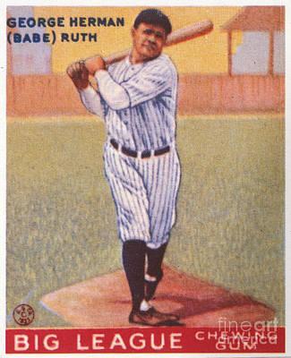 Babe Ruth (1895-1948) Art Print by Granger