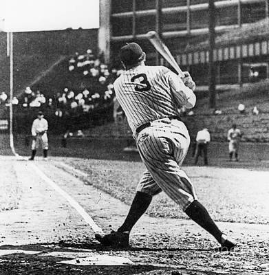 Pastimes Photograph - Babe Ruth by American School