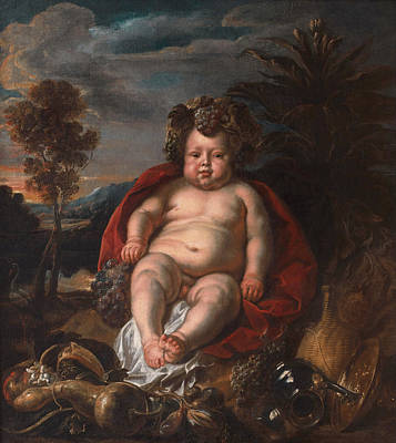 Bacchus As A Child Print by Jacob Jordaens