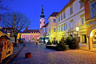 Photograph - Bad Radkersburg Street Evening Advent View by Brch Photography