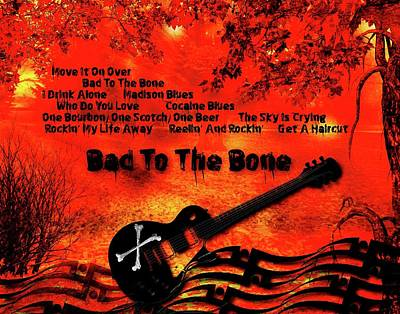 Digital Art - Bad To The Bone by Michael Damiani