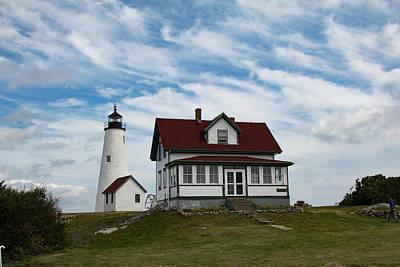 Photograph - Bakers Island Lighthouse Salem by Jeff Folger