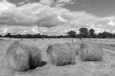Photograph - Bales Of Hay In The English Countryside by Julia Gavin