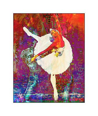 Ballet Art Print by Lynda Payton