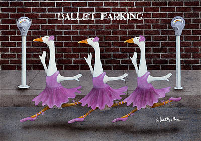 Parking Painting - Ballet Parking... by Will Bullas
