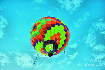 Royalty-Free and Rights-Managed Images - Balloon overhead by Jeff Swan