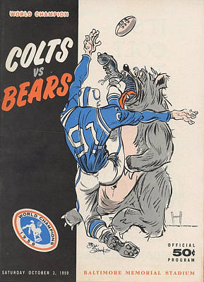 Indianapolis Photograph - Baltimore Colts Vintage Program by Joe Hamilton