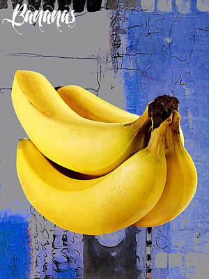 Yellow Mixed Media - Banana Collection by Marvin Blaine