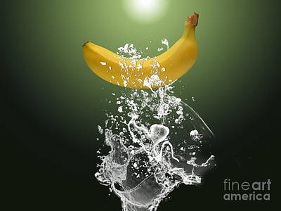 Banana Splash Art Print by Marvin Blaine